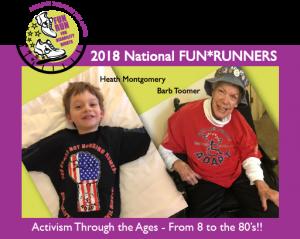 2018 Fun Runners - Barb Toomer and Heath Montgomery